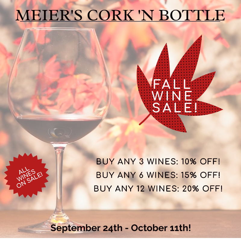 Fall Wine Sale Graphic